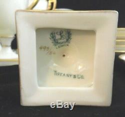 Lenox China Tiffany & Co. Gilded Chocolate Cup Saucer Art Deco Set of 6