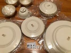 Lenox Mansfield 20 Piece Set 4 Dinner Salad Bread Plates Cups Saucers Service 4