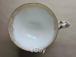 MINTONS GOLD FAUX SEVRES TWIG HANDLE CUP & SAUCER FLORAL SPRAYS & GILT (Ref4432)