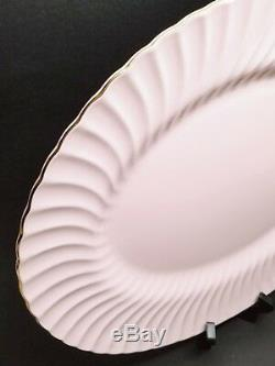 Minton Shell Pink & Gold Swirl 17.75 XL Platter Bone China S613 VINTAGE-RETIRED