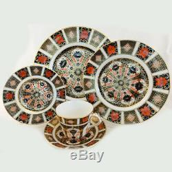 OLD IMARI Royal Crown Derby Cup & Saucer Footed Elizabeth NEW NEVER USED England