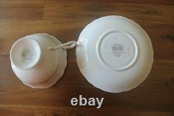 Paragon White Gardenias Black Gold Teacup Tea Cup Saucer Double Warrant