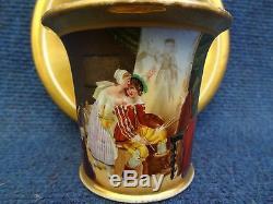 Porcelain Cup & Saucer Paris Porcelain Empire Period The Painter Rubbed Gilt