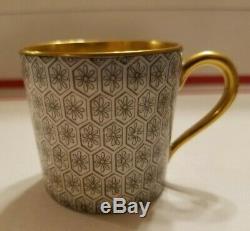 RARE 1920's Antique Art Deco GOLD Demitasse Cup & Saucer Set Bernardaud LIMOGES