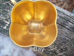 RARE Coalport Demitasse Cup & Saucer England -Cobalt Gold Beaded Embossed Gilt