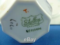 RARE SHELLEY Queen Anne GOLD SUNSET Cup, saucer, plate RD723404 Pat 11707 ENGLAND