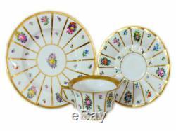 ROYAL COPENHAGEN HENRIETTE SERVICE SET for 6 (18 pieces) cups saucers plates