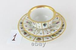 ROYAL COPENHAGEN HENRIETTE Tea SET (3 pieces) cup saucer plate, 5 available
