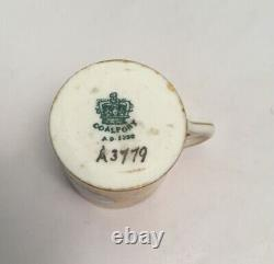 Rare Antique Coalport Miniature Cup And Saucer Hand Painted Lake Views A3779