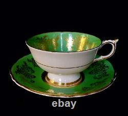 Rare Paragon Floating Pansy on Gold Cup & Saucer Hand Painted