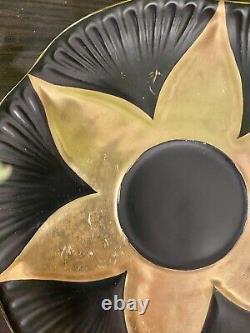 Rare Shelley China Dainty Black Gold Tea Cup Saucer