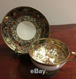 Rare Vintage Nippon Hand Painted Moriage Gold Cup & Saucer Set