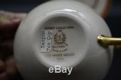 Reagan White House Presidential China Lenox Embassy Red Gold Cup & Saucer