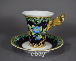 Rosenthal Versace Gold Ivy Wunderlich Kaffeetasse Tasse Gedeck coffee cup saucer