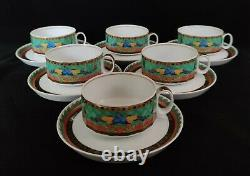 Rosenthal Versace Marco Polo SET of 6 Tea Cups & Saucers (D0096)