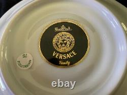 Rosenthal Versace Vanity China, High Coffee Cup & Saucer, 5 Sets Available, New