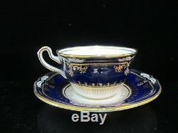 SPODE Lancaster Cobalt Blue R8950 Gold Gilt Porcelain Cup & Saucer Set of 2