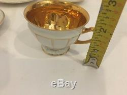 Set 5 Vintage Rosenthal Gold Maria Demitasse Cups & Saucers Germany US Zone