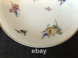 Sevres Cup and Saucer Pair Floral Gold Flowers 18th Century Porcelain Antique
