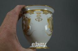 Sevres Hand Painted Courting Couple & Raised Gold Oversized Cup & Saucer C. 1889