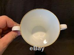 Sevres Porcelain Trembleuse 3 Piece Cup Saucer and Lid Gold France Stunning