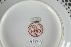 Sevres Reticulated Double Walled White & Gold Cup & Saucer Circa 1878-1882
