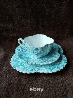 Shelley Foley Wileman Gilded Alexandra Cup Saucer Plate Trio c. 1890
