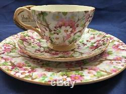 Shelley MAYTIME CHINTZ HENLEY CUP, SAUCER & PLATE GOLD TRIM #13452