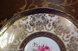 Stunning PARAGON Pink Rose/Cobalt Blue/Heavy Gold/Lace Tea Cup & Saucer #A866