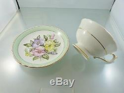 Sweet Pea Floral A 1838 Gold Trim Cup & Saucer Set By Paragon China