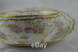 Theodore Haviland LImoges Double Gold 340 Oversized Breakfast Cup Saucer B Set 2