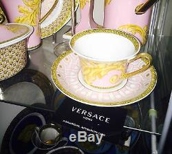 VERSACE BYZANTINE CUP SAUCER GOLD TEA COFFEE SET NEW BOX Retail $300 sale