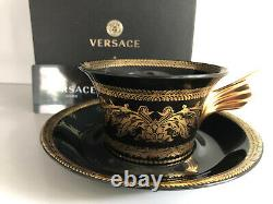 VERSACE Gold Baroque TEA CUP & SAUCER CELEBRATING 25 YEARS Rosenthal NEW