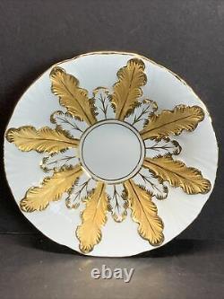 VTG Meissen Porcelain Acanthus Leaf Gold Gild Rococo Cup & Saucer 1ST QUALITY