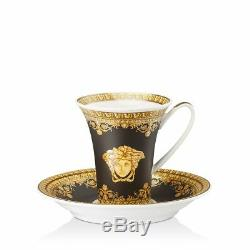 Versace By Rosenthal''I Love Baroque'' Nero After Dinner Cup & Saucer