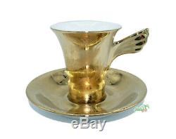 Versace Vanity, La Doree Espresso /Mokka Tassen Set 6/ espresso cup by Rosenthal