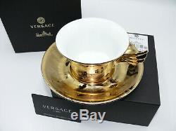 Versace Vanity, La Doree Teetasse 2-tlg. Tea Cup with saucer low by Rosenthal