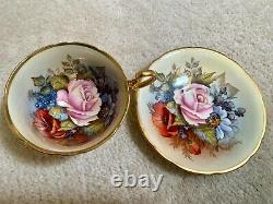 Vintage Aynsley Bailey Rose Gold Cup & Saucer