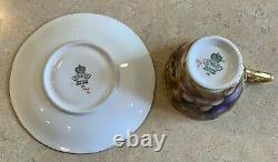 Vintage Aynsley Orchard Gold Fruit Cup & Saucer Set #7462 Signed N. Brunt