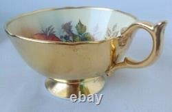 Vintage Aynsley Signed Bailey Cabbage Rose Cup & Saucer Bone China LOOK! 1 of 4
