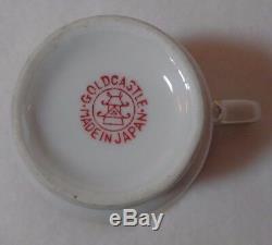 Vintage Gold Castle Hostess Demitasse Cup & Saucer Made in Japan Set of 7