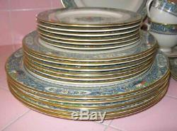Vintage Lenox Autumn 30 pc 6 Settings Dinner Salad Bread Plates Cup Saucer Gold