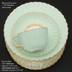 Vintage Minton Tiffany & Co Somerset 36pc Tea Cup, Saucer & 8 Dessert Plate Set