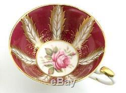 Vintage Paragon Pink Roses Tea Cup Saucer Gold Gilt Edging Fine Bone China K234