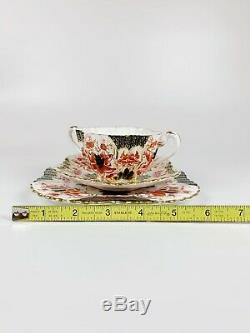 Wileman Shelley Foley Alexandra Cup Saucer Plate Gold Rim double handle Set A