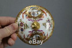 Wolfsohn Dresden Hand Painted Dock Scenes & Gold Covered Bouillon Cup & Saucer C