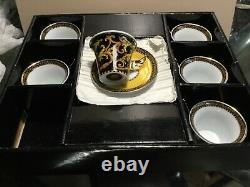 'barocco - Versace By Rosenthal 6 Demitasse Cups & Saucers New In Box